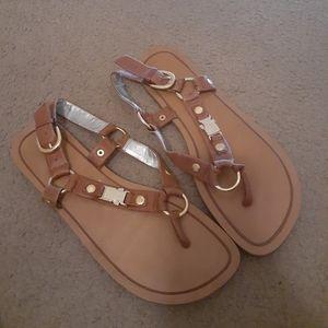Jessica Simpson cognac sandals